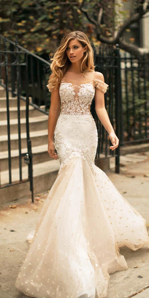milla nova wedding dresses mermaid off the shoulder blush