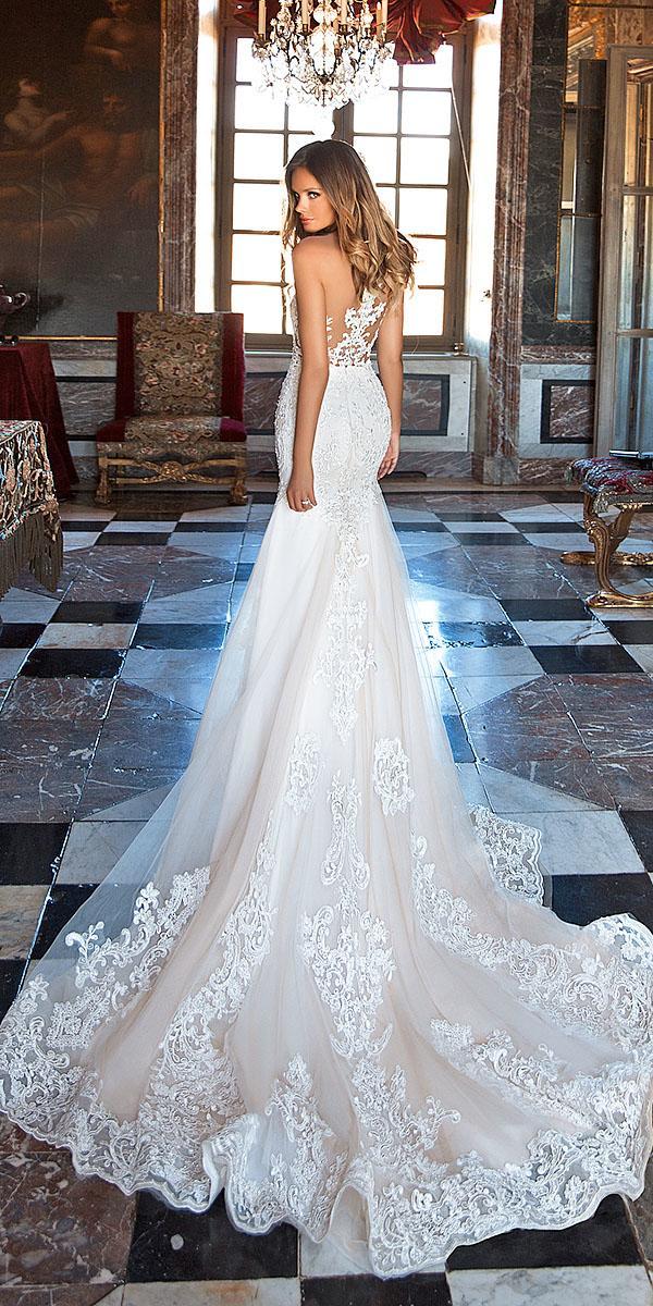 milla nova wedding dresses mermaid tattoo effect full lace 2018
