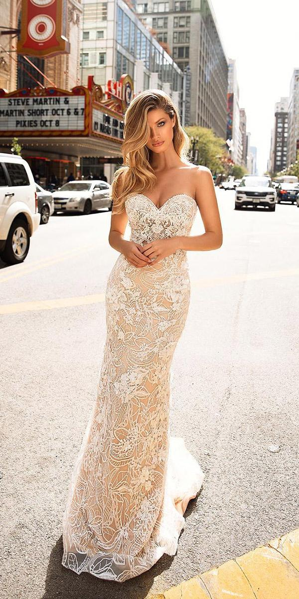 milla nova wedding dresses sheath strapless ivory 2018