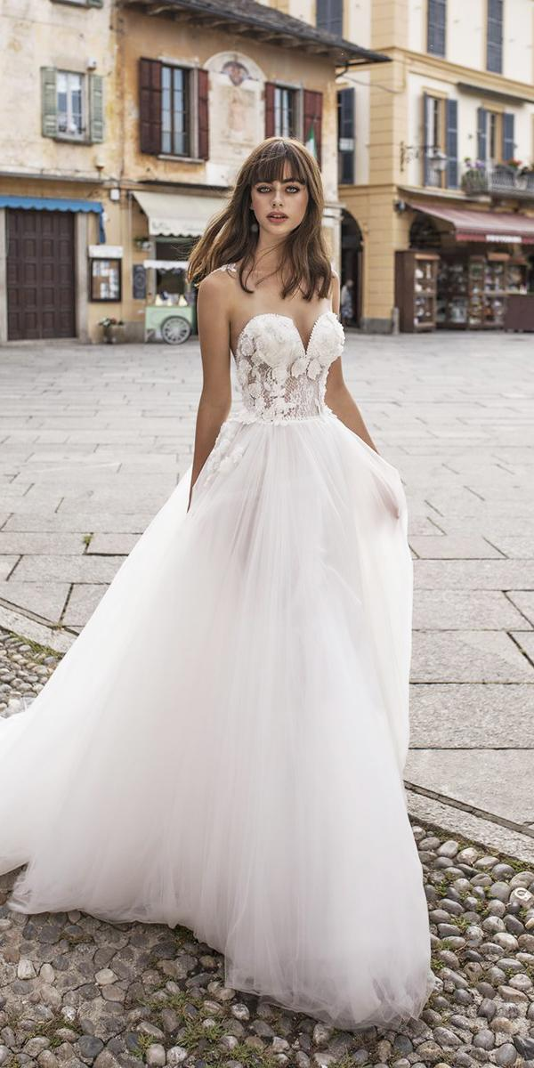 pinella passaro wedding dresses a line sweetheart top tulle skirt 2018