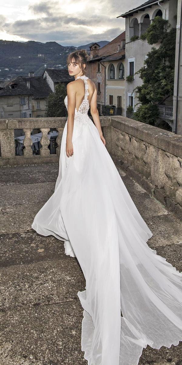 pinella passaro wedding dresses a line tattoo back satin skirt 2018