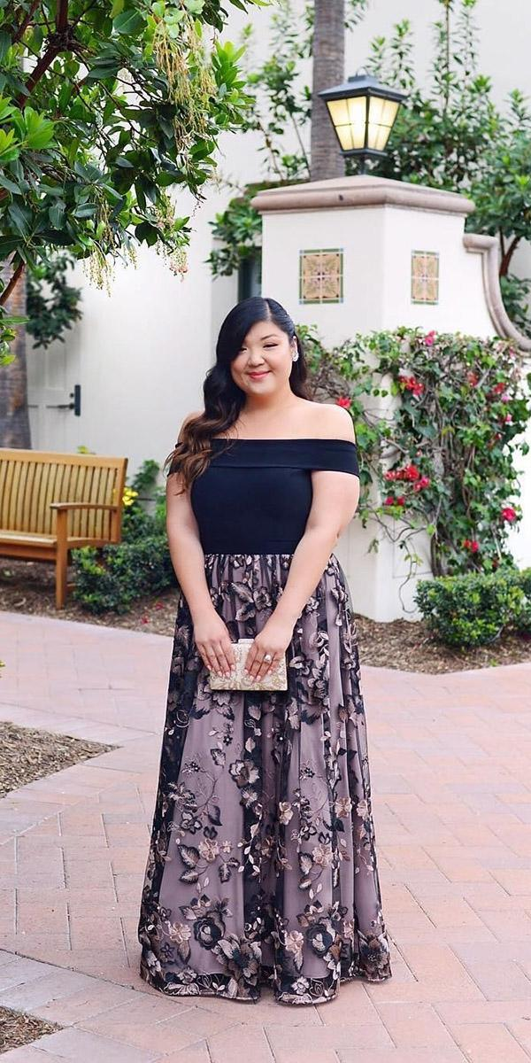 plus size mother of the bride dresses long off the shoulder for fall curvy girl chic