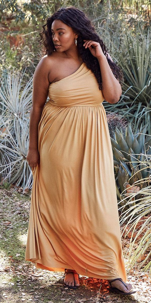 plus size mother of the bride dresses long one shoulder for summer rachel pally