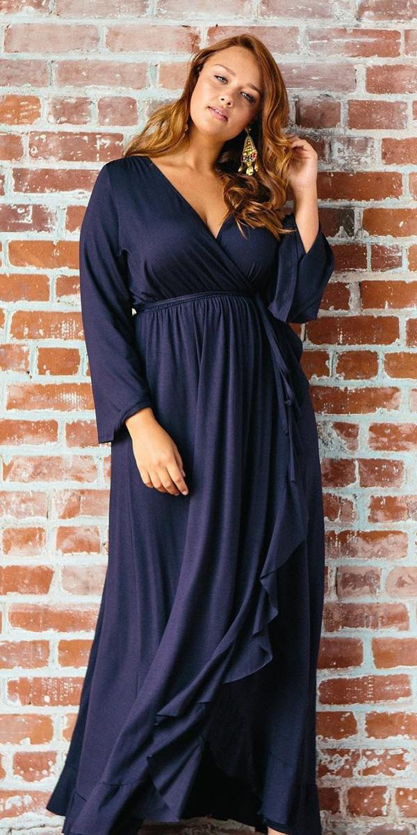 plus size mother of the bride dresses long with sleeves dark navy for fall rachel pally
