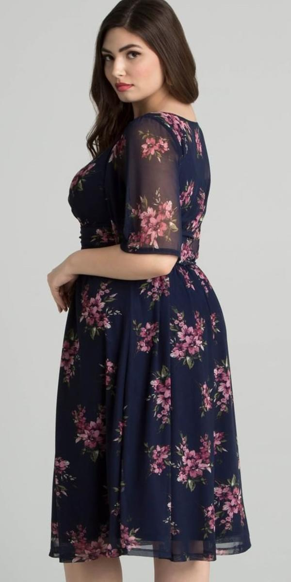 plus size mother the bride dresses tea length with three quote floral for summer kiyonna curves