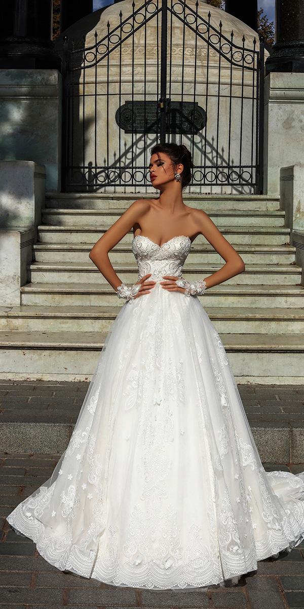 pollardi wedding dresses a line strapless beaded top