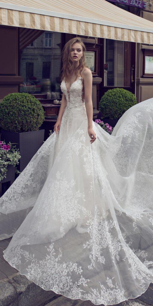 riki dalal wedding dresses a line deep v neckline spaghetti straps lace style desdemona