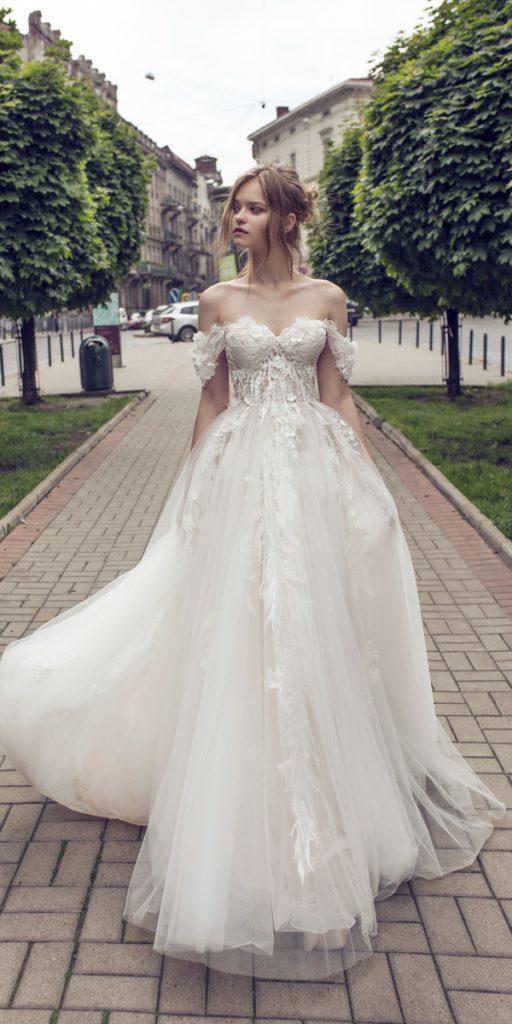 riki dalal wedding dresses a line lace off the shoulder sweetheart neckline style juliet