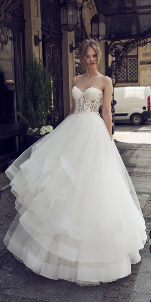 riki dalal wedding dresses a line strapless sweetheart neckline with ruffled skirt style viola