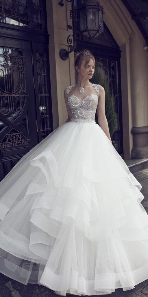 riki dalal wedding dresses ball gown sweetheart neckline with embellishments ruffled skirt style ophelia