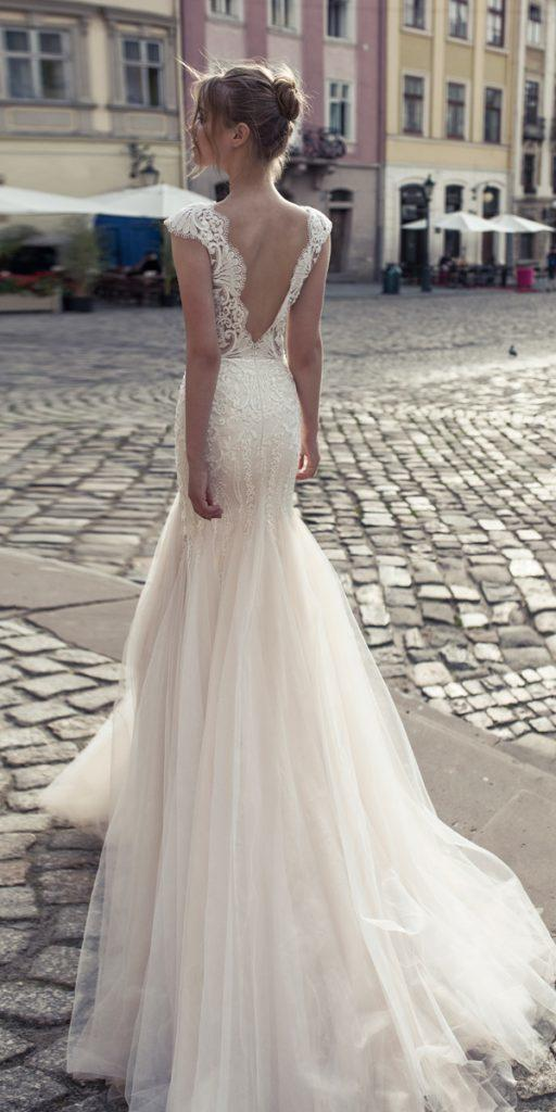 riki dalal wedding dresses mermaid lace open back with caps sleeves style lady macbeth