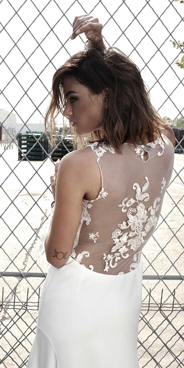 rime arodaky wedding dresses illusion back floral embellishment