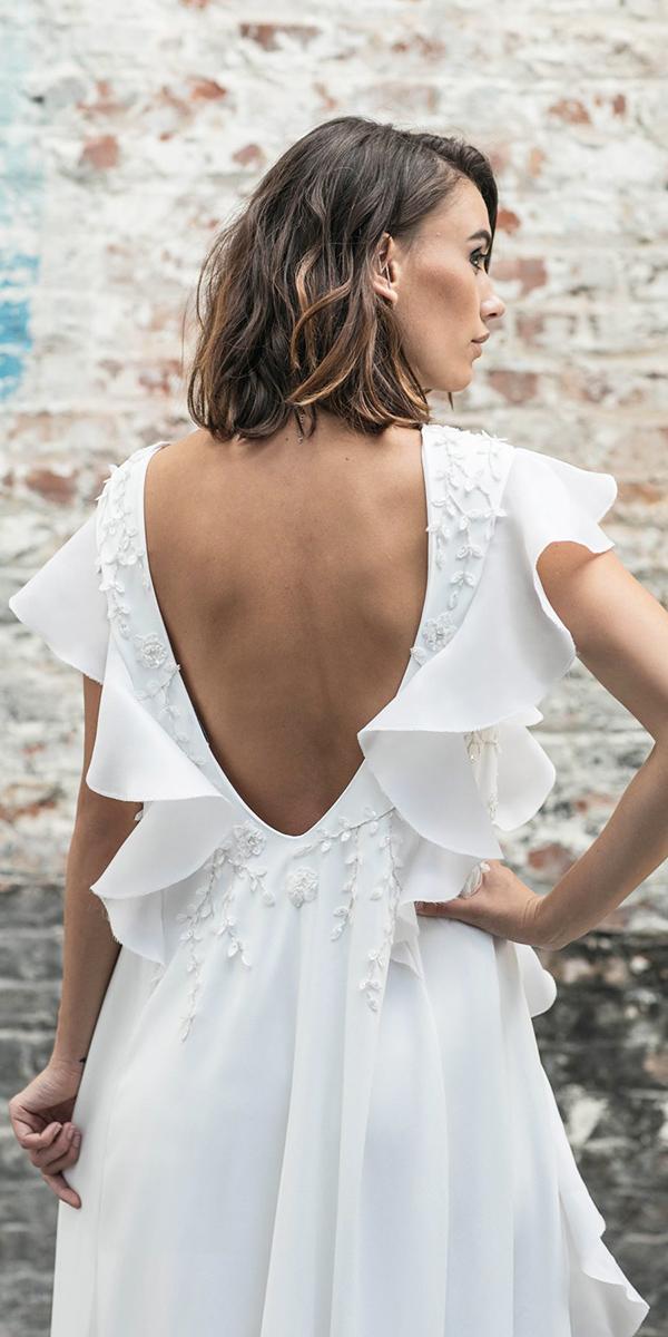 rime arodaky wedding dresses v back details floral appliques