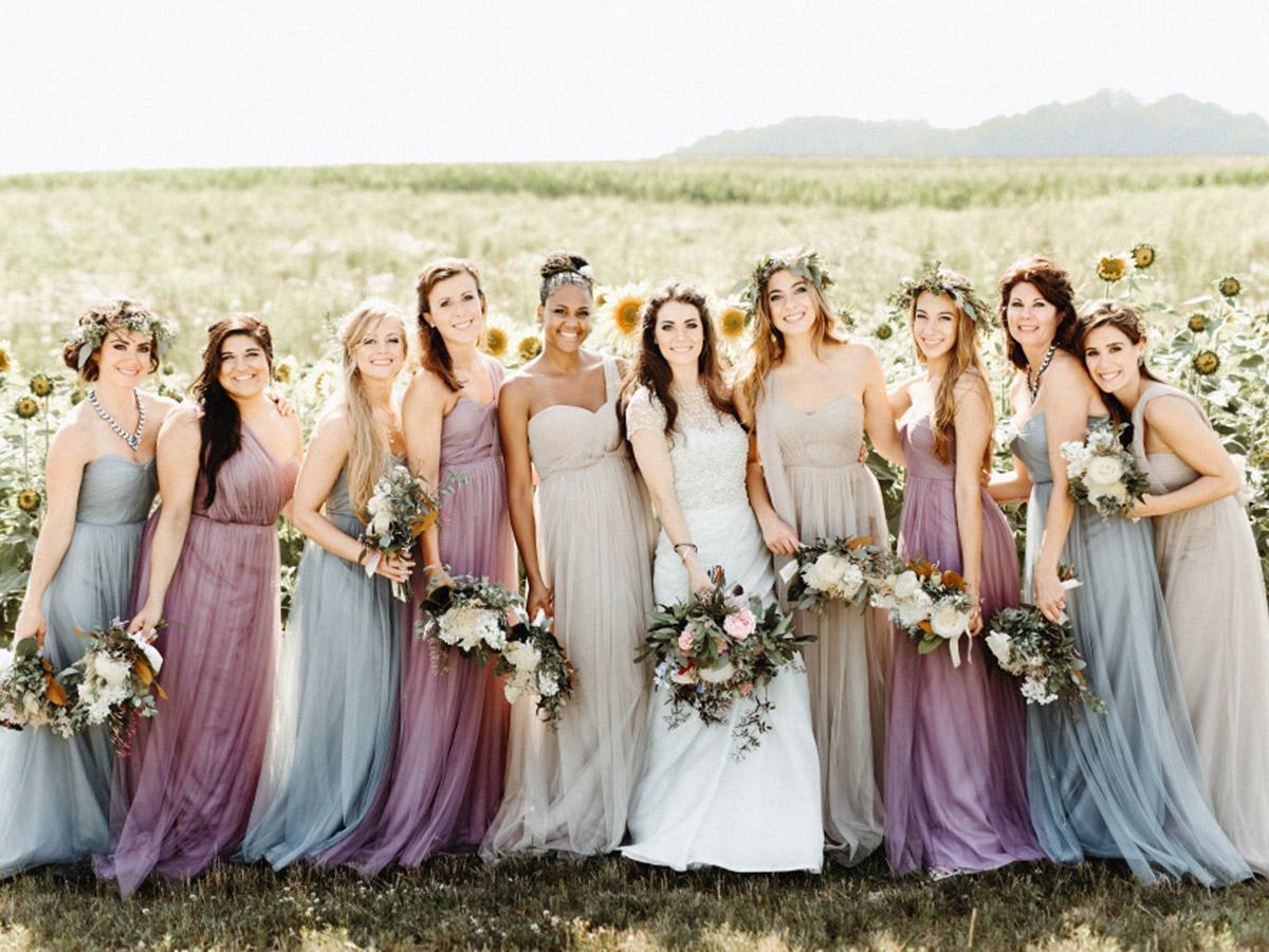 rustic bridesmaid dresses featured logan clement
