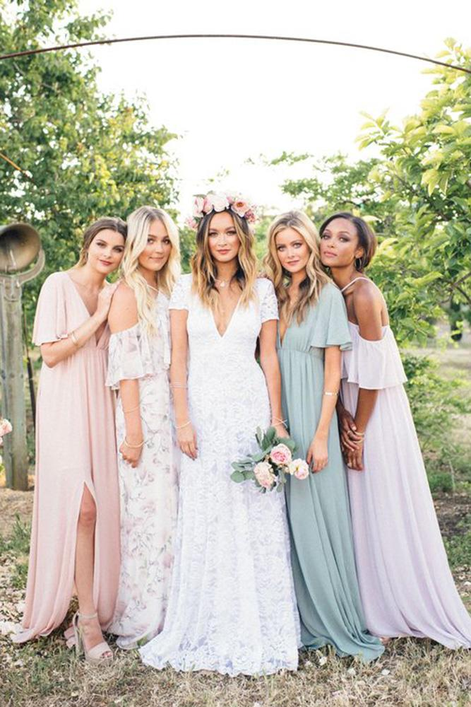 Rustic Bridesmaid Dresses Lon Neutral Mumu Weddings