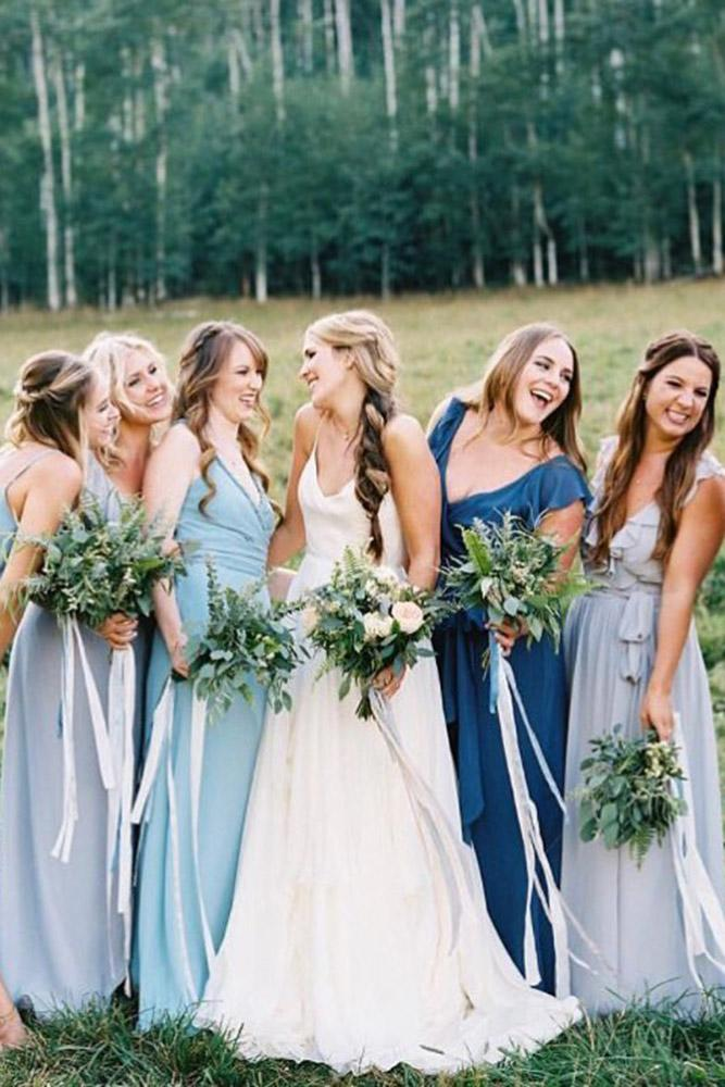 rustic bridesmaid dresses long country joanna august