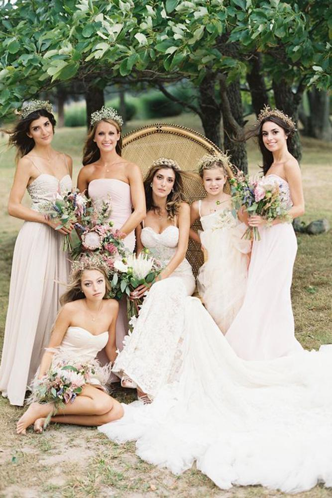 rustic bridesmaid dresses neutral long judy pak