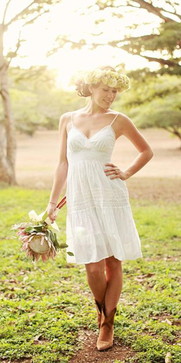 rustic lace wedding dresses with spaghetti straps boots woodland creatrix photography