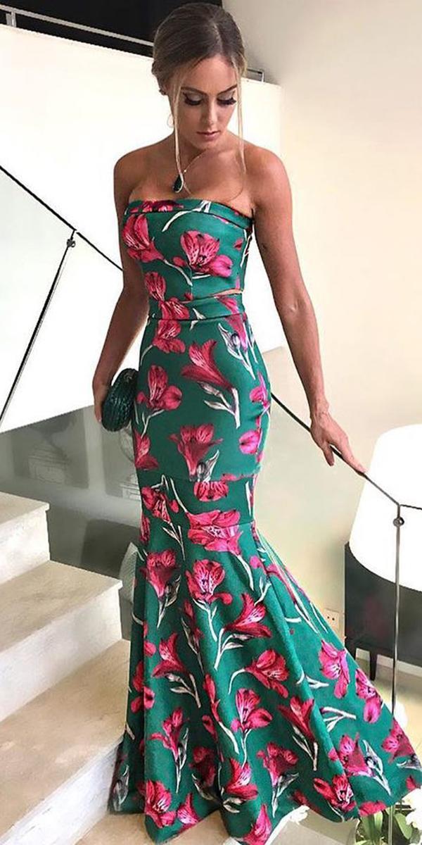 wedding guest dresses long straight across floral vestidos oficial