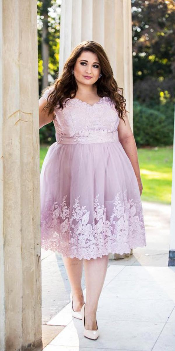 wedding party dresses short with cap sleeves full lace plus size chi chi london