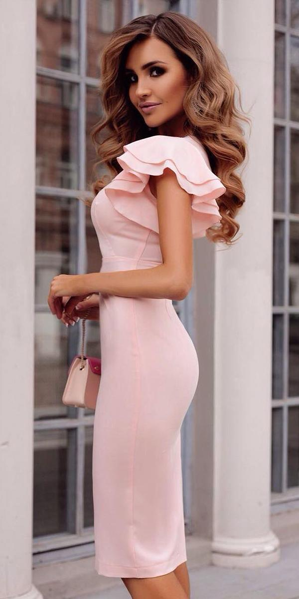 wedding guest dresses short with cap sleeves pink malina fashion