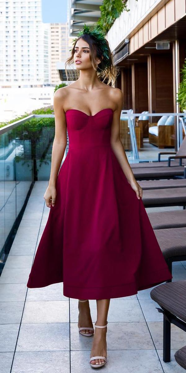 wedding guest dresses sweetheart burgundy ellezei toune designs