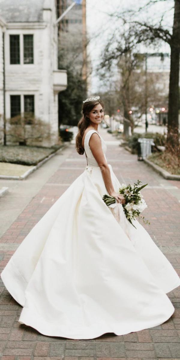 white elegant gowns a line simple classy with bow anne barge