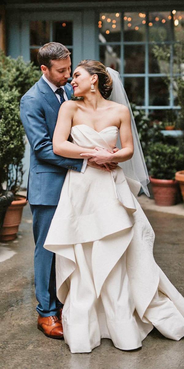 white elegant gowns a line sweetheart ruffled skirt simple oscar de larenta