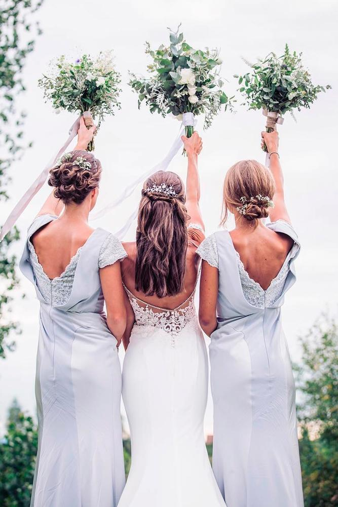 blue bridesmaid dresses long lace backless with short sleeves wistful two photography