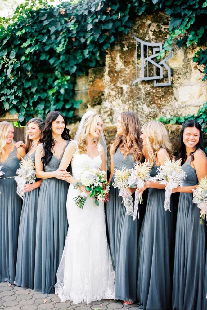 blue bridesmaid dresses slate long straight sweetheart neckline jen rodriguez photography