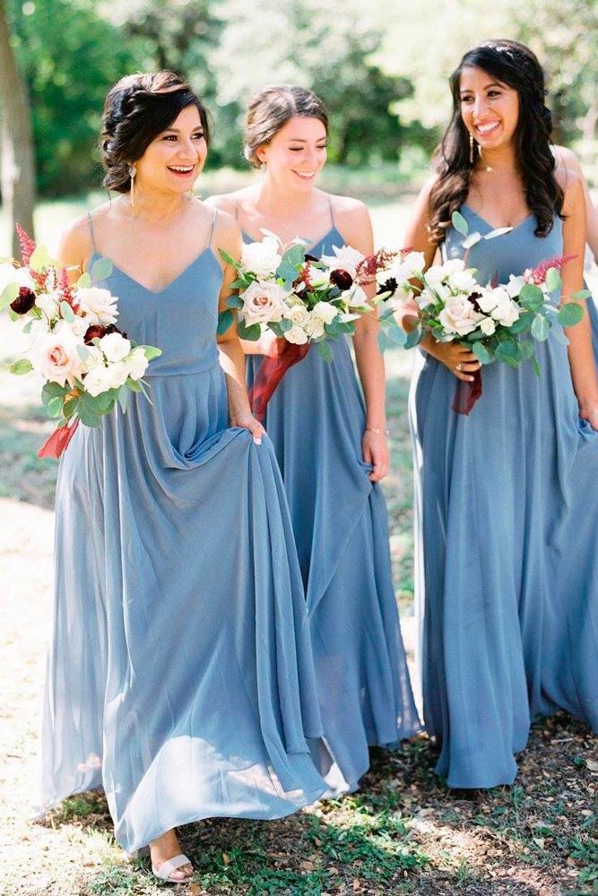 18 Blue Bridesmaid Dresses For Great Wedding Wedding