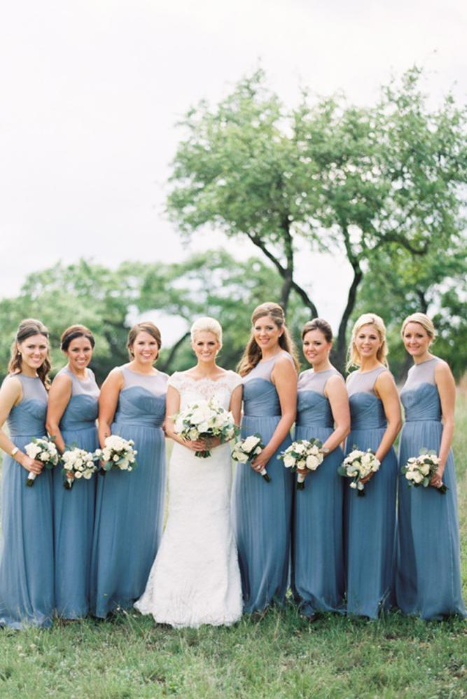 blue bridesmaid dresses straight slate long illusion sweetheart neck loft photography