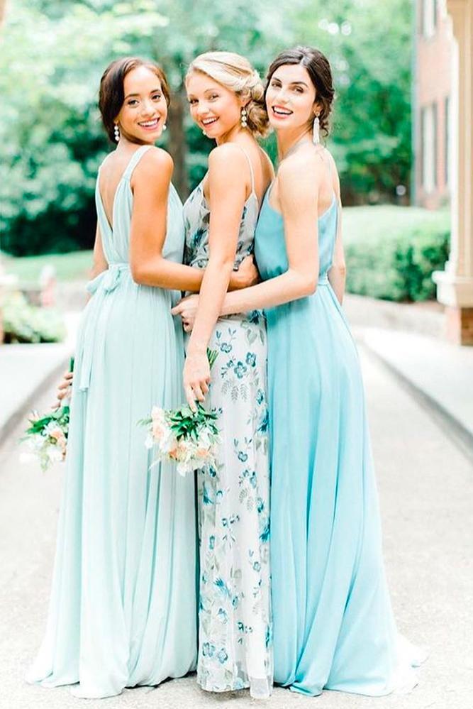 blue bridesmaid dresses tiffany long open back with bow bella bridesmaids