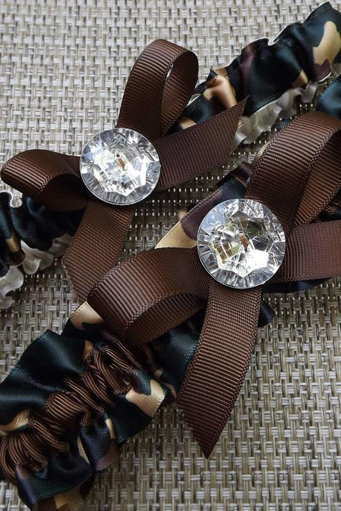 camouflage lingerie dark camo garter with rhinestones weddingzilla