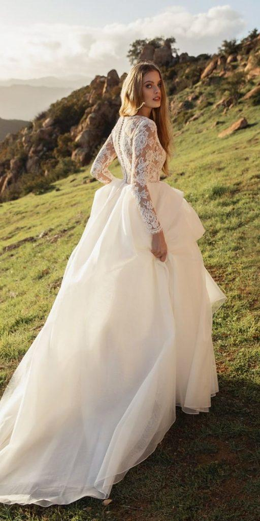country wedding dresses ball gown with lace long sleeves jennyyoonyc
