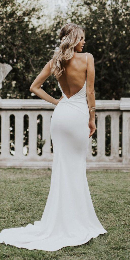 country wedding dresses sheath with spaghetti straps simple for beach katie may