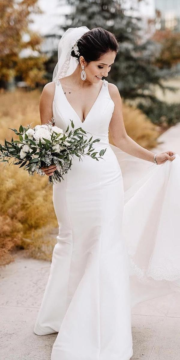 country wedding dresses simple sheath v neckline outdoor mori lee
