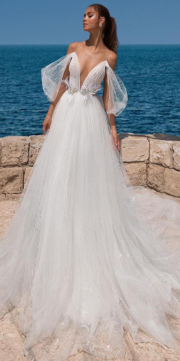 elihav sasson wedding dresses 2018 a line with spaghetti straps beach