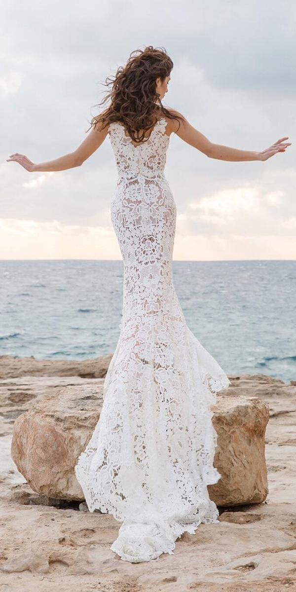 mermaid wedding dresses full lace embellishment with train goddess by nature