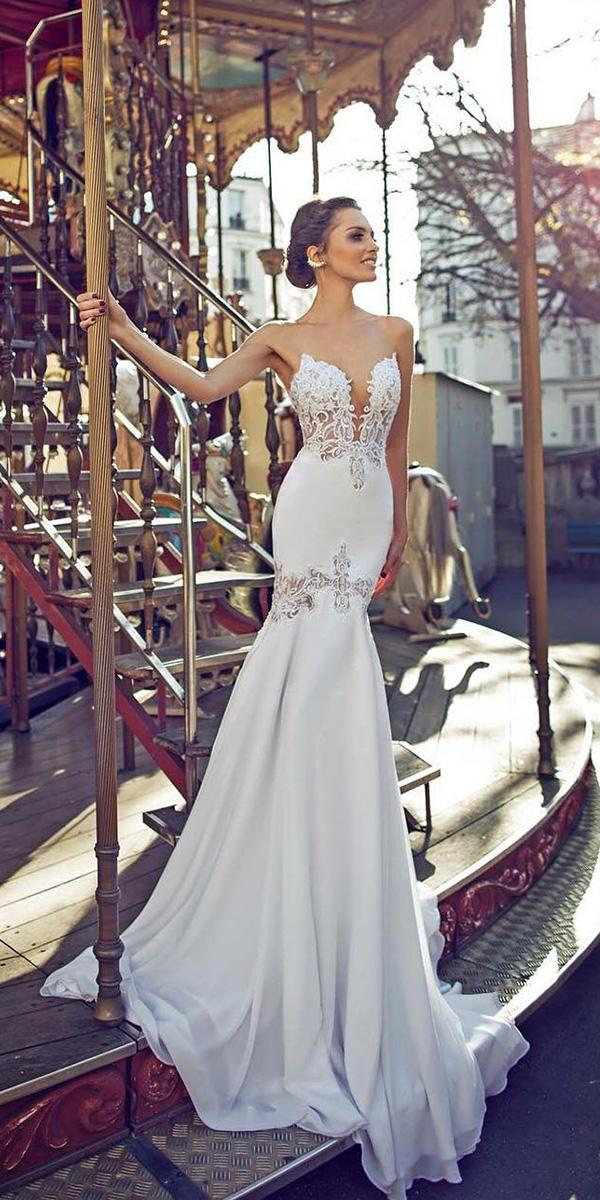 mermaid wedding dresses strapless deep v neckline sexy dimitrius dalia
