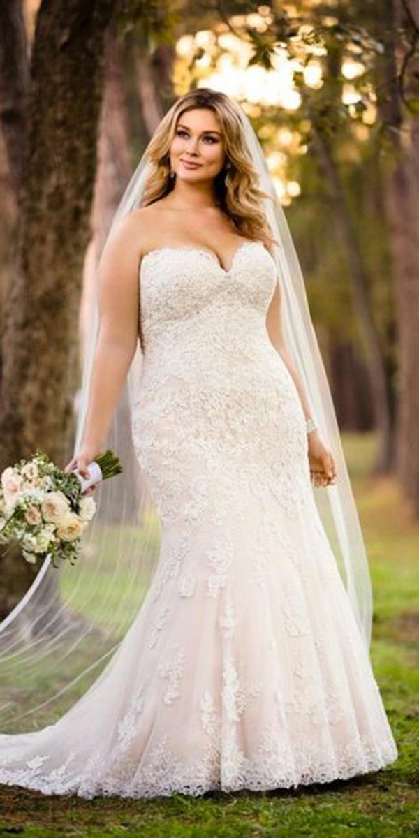 mermaid wedding dresses sweetheart lace plus size carrie johnson