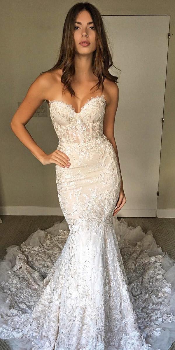 mermaid wedding dresses sweetheart sexy full lace berta
