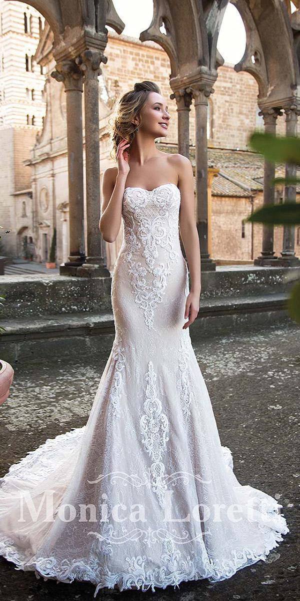 monica loretti wedding dresses mermaid sweetheart full lace