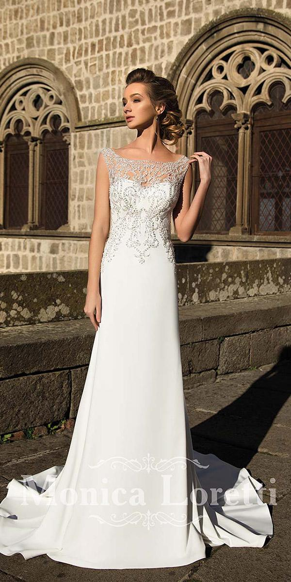 monica loretti wedding dresses sheath sweetheart vintage