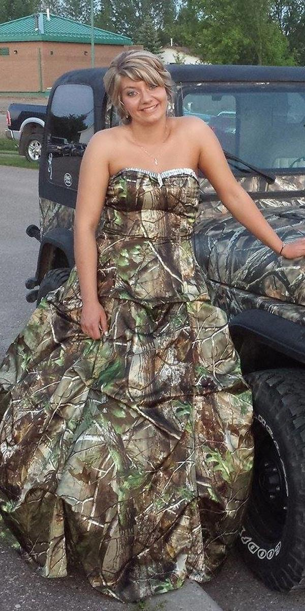 plus size camouflage dresses classy strapless sweetheart a line camo formal 2