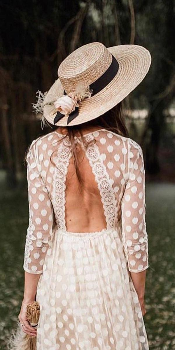 rustic-lace wedding dresses a line wiyh sleeves open back immacle novias