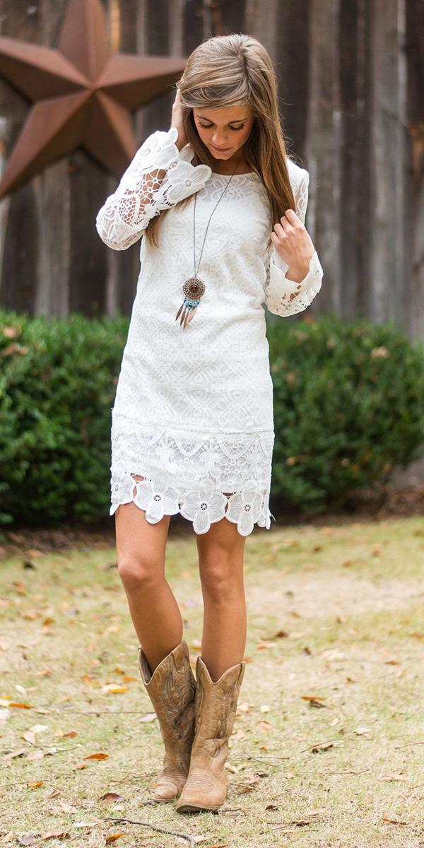 rustic lace wedding dresses with cowgirl boots grace and lace