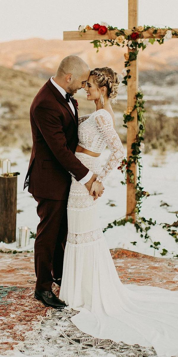 rustic lace wedding dresses with long sleeves country detached skirt india earl