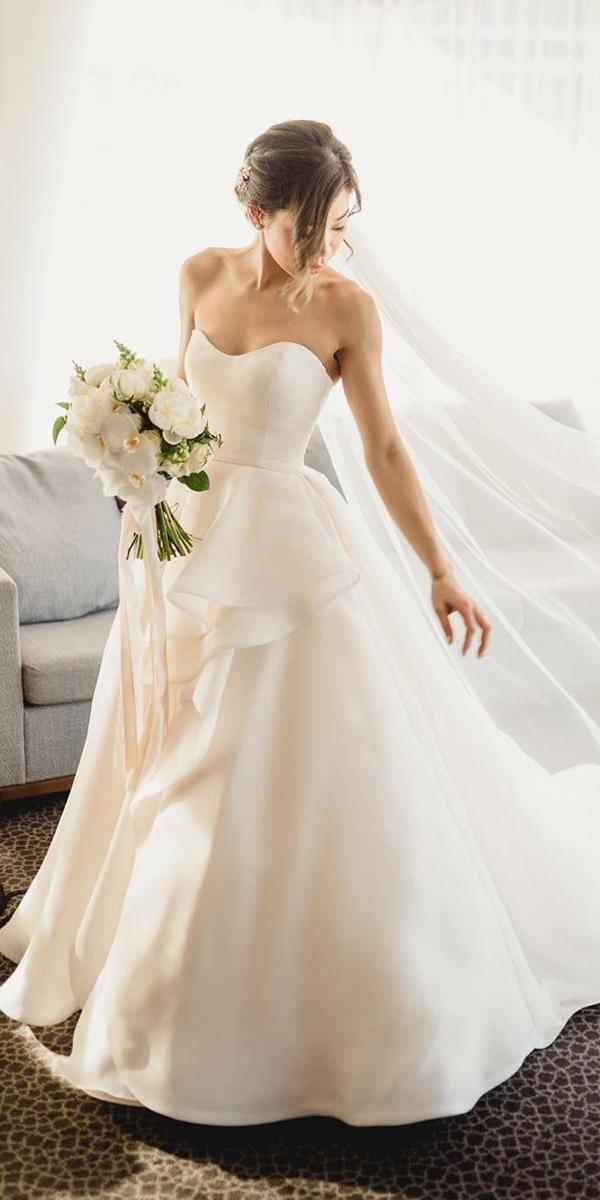 strapless wedding dresses ball gown simple maggie sottero designs