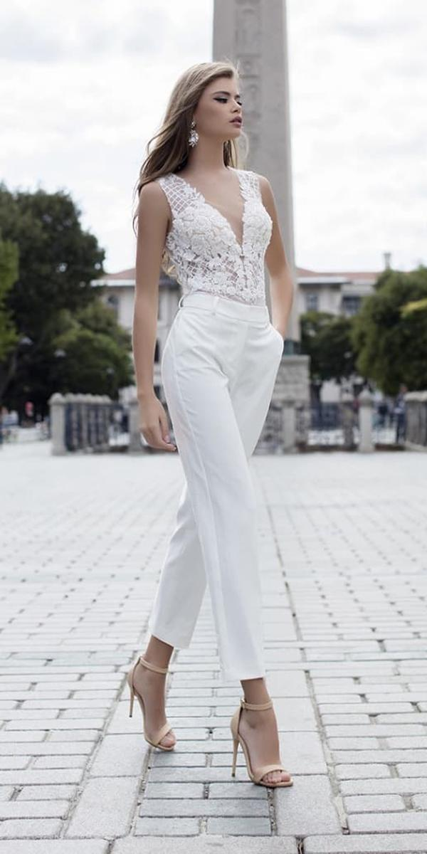 trendy wedding dresses 2018 jumpsuits modern liretta